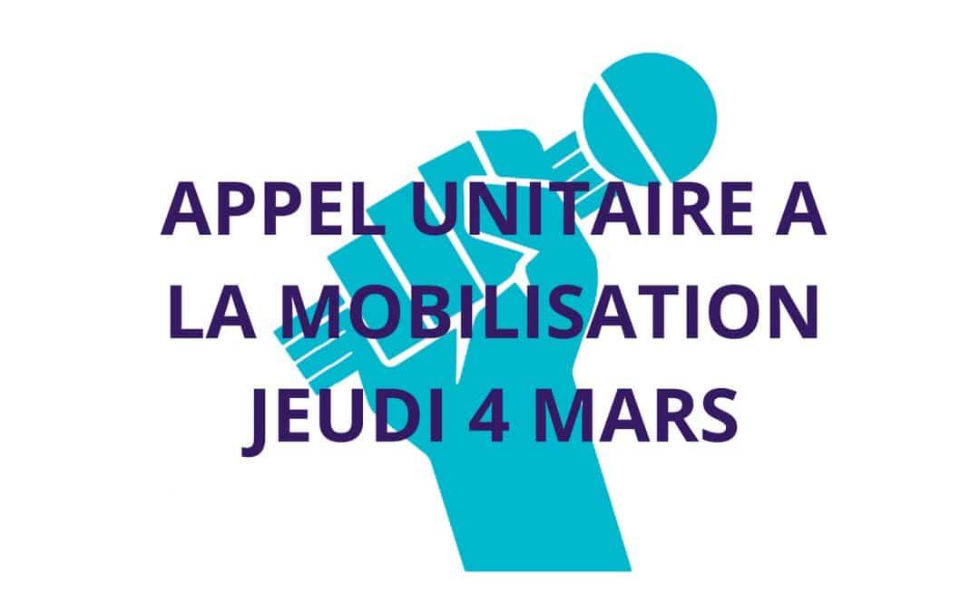 JOURNÉE DE MOBILISATION